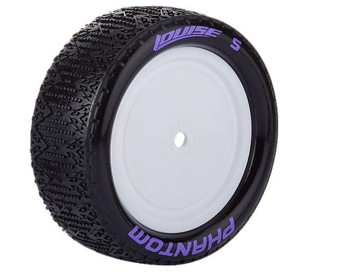 Louise E-Phantom Buggy 4WD Front Tire With White Rim - SuperSoft - TeamC, Kyosho (2)