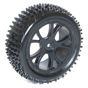 FTX Vantage Front Buggy Tyre Mounted On Wheels - Black (2)