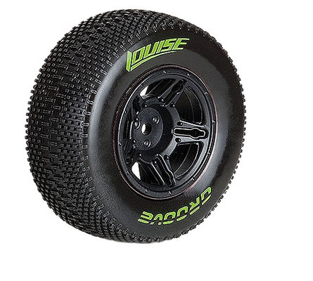 Louise SC - Groove SC Tyre With Black Rim For Losi SCTE (Mounted) - SuperSoft - (2)