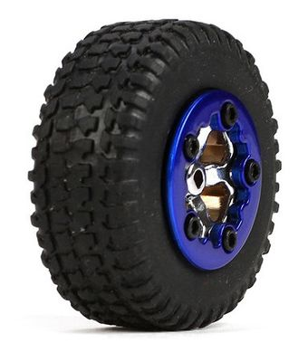 Team Losi Tires, Mounted, Blue (4): Micro SCT
