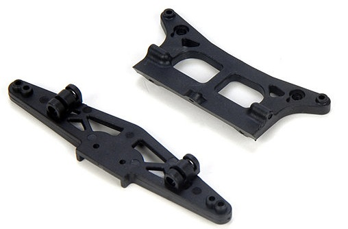 Team Losi Front/Rear Shock Tower & Lower Shock Mounts: MSCT