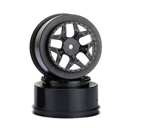 "Louise 2.2""/3.0"" Black Rim (For LOSI SCTE 4X4) (2)"