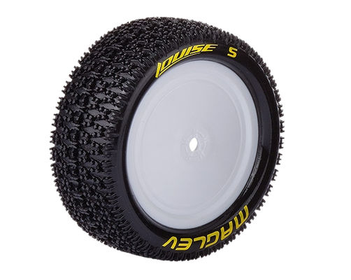 Louise E-Maglev 4WD Buggy Font Tire With White Rim - SuperSoft - TeamC, Kyosho (2)