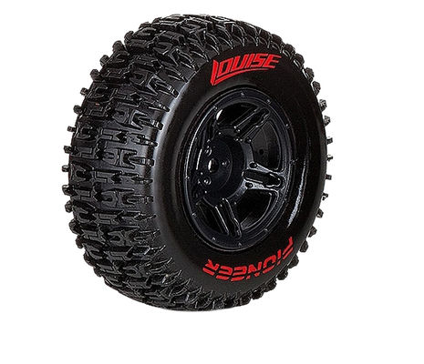 Louise SC - Pioneer SC Tyre With Black Rim For Traxxas Front (Mounted) - Soft - (2)