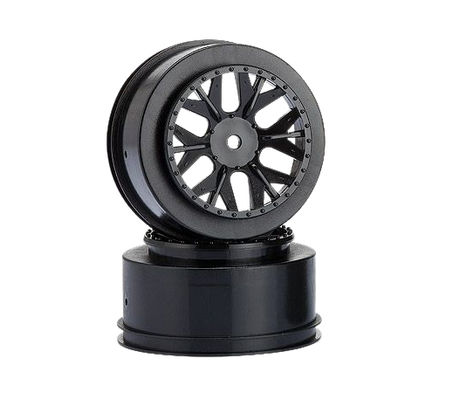 "Louise 2.2""/3.0"" Black Rim (For ASSOCIATED SC10 4X4 ,SC10 RS) (2)"