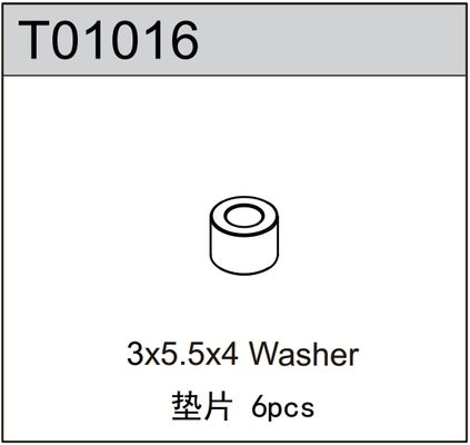 TeamC 3x5.5x4 Washer (6)