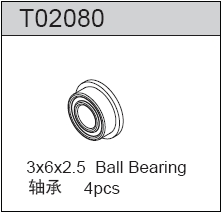TeamC Ball Bearing 3X6X2.5 (4)
