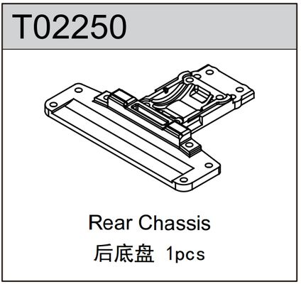 TeamC Rear Chassis Plate - TC02C Evo