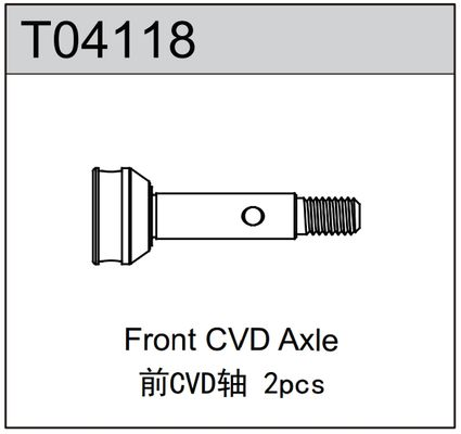 TeamC Front CVD Axle (2) - TM4
