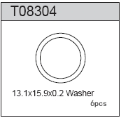 TeamC Washer 13.1x15.9x0.2mm (6)