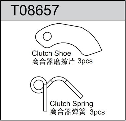 TeamC Clutch Shoe / Spring (3)