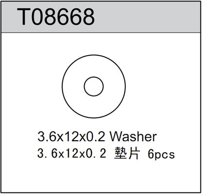 TeamC Washer 3.6x12x0.2mm (6)
