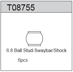 TeamC 6.8 Ball Stud Swaybar/Shock (6)