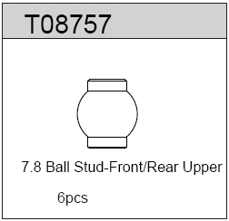 TeamC 7.8 Ball Stud - F/R Upper (6)