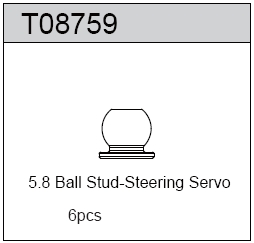 TeamC 5.8 Ball Stud - Steering Servo (6)