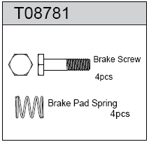 TeamC Brake Pad Spring / Brake Screw