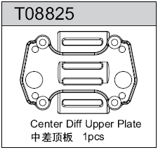 TeamC GT8 Center Diff Upper Plate
