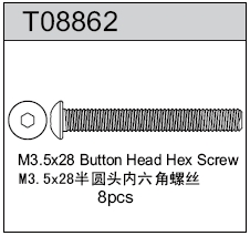 TeamC M3.5X28 Button Head Hex Screw