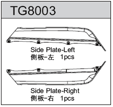 TeamC GT8 Side Plate L/R