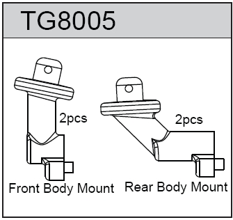TeamC F/R Body Mount for T8T(E)