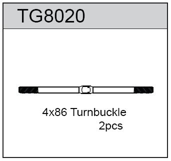TeamC Turnbuckle 4X86 For T8T(E) (2)