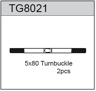 TeamC Turnbuckle 5X80 For T8T(E) (2)