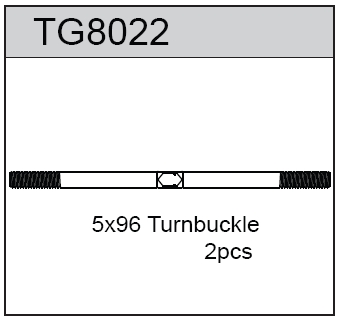 TeamC Turnbuckle 5X96 For T8T(E) (2)