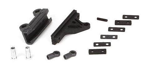 Team Losi Racing  Steering Housing, Rack, Hardware: 22/2.0/T/SCT