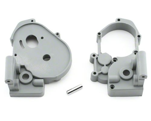 Traxxas Gearbox Halves With Idler Shaft - Grey