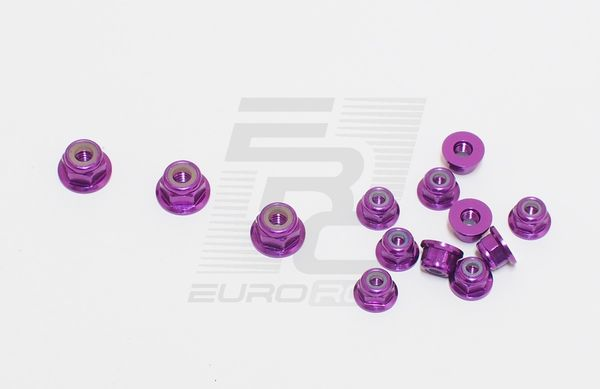 TeamC Aluminium Nuts Set - Purple