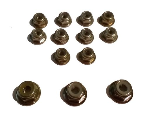 TeamC Aluminium Nuts Set - Gun Metal